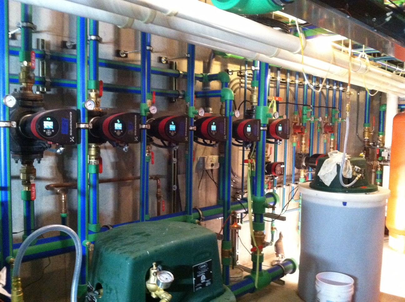 Residential Mechanical Room w/ Hydronic Piping